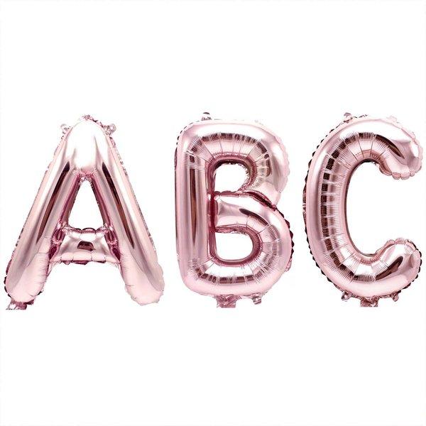 Folienballon número 2 rosa