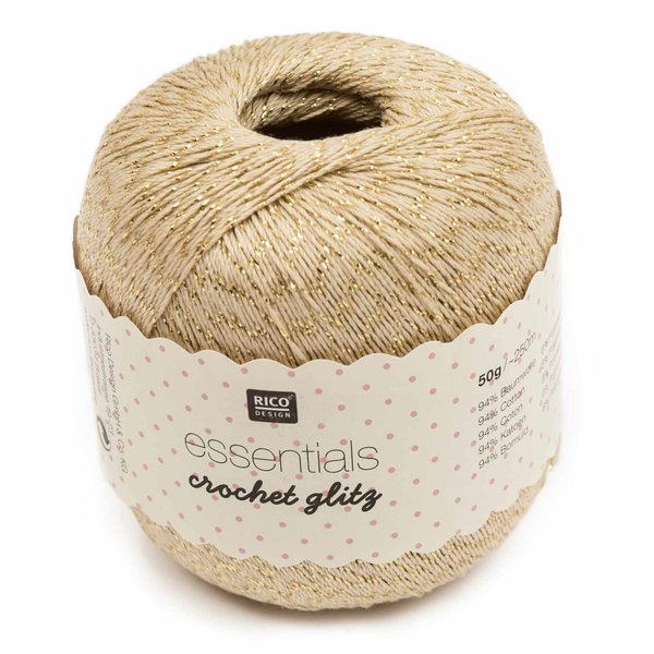 Rico Design Essentials Crochet Glitz 50g 250m