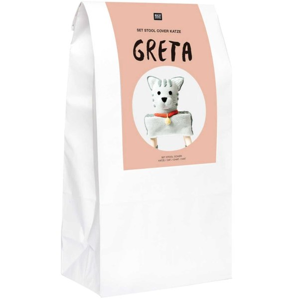 "Rico Design Häkel-Set Stool Cover Katze ""Greta"""