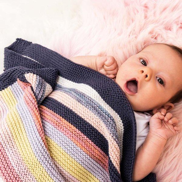Strickset Decke Modell 16 aus Rico Baby Nr. 024